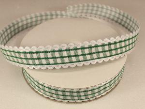 Лента декоративная, ширина 20 мм(313009), цвет: №4 зеленый (бобина 20+-0,3 ярдов)