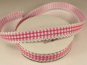 Лента декоративная, ширина 20 мм(313009), цвет: №5 розовый (бобина 20+-0,3 ярдов)