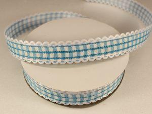 Лента декоративная, ширина 20 мм(313009), цвет: №7 голубой (бобина 20+-0,3 ярдов)