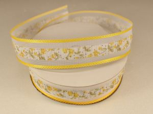 Лента декоративная, ширина 25 мм(313105), цвет: №2 желтый (бобина 20+-0,3 ярдов)