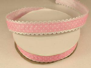 Лента декоративная, ширина 20 мм(213046), цвет: №3 светло-розовый (бобина 20+-0,3 ярдов)
