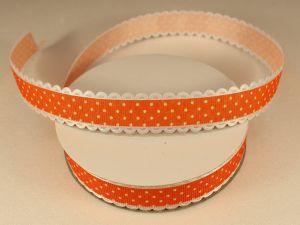 Лента декоративная, ширина 20 мм(213046), цвет: №10 оранжевый (бобина 20+-0,3 ярдов)