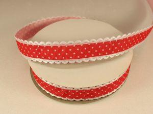 Лента декоративная, ширина 20 мм(213046), цвет: №12 красный (бобина 20+-0,3 ярдов)