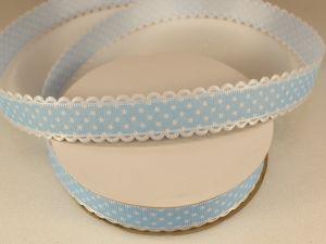 Лента декоративная, ширина 20 мм(213046), цвет: №14 голубой (бобина 20+-0,3 ярдов)