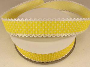 Лента декоративная, ширина 25 мм(313072), цвет: №3 желтый (бобина 20+-0,3 ярдов)
