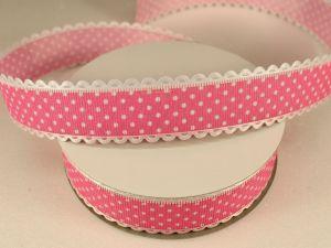 Лента декоративная, ширина 25 мм(313072), цвет: №7 розовый (бобина 20+-0,3 ярдов)