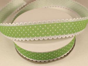 Лента декоративная, ширина 25 мм(313072), цвет: №8 зеленый (бобина 20+-0,3 ярдов)