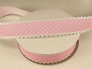 Лента декоративная, ширина 25 мм(313072), цвет: №10 светло-розовый (бобина 20+-0,3 ярдов)