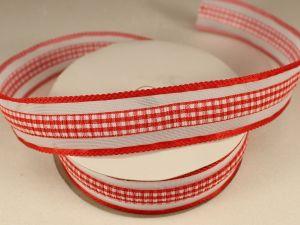 Лента декоративная, ширина 25 мм(313101), цвет: №2 красный (бобина 20+-0,3 ярдов)