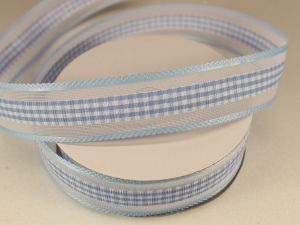 Лента декоративная, ширина 25 мм(313101), цвет: №5 голубой (бобина 20+-0,3 ярдов)