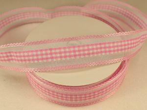Лента декоративная, ширина 25 мм(313101), цвет: №6 светло-розовый (бобина 20+-0,3 ярдов)