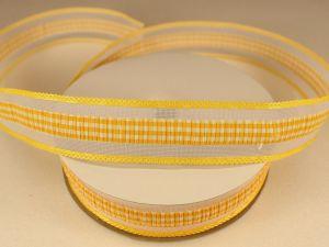 Лента декоративная, ширина 25 мм(313101), цвет: №7 желтый (бобина 20+-0,3 ярдов)