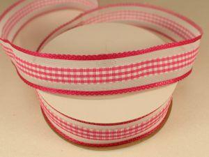 Лента декоративная, ширина 25 мм(313101), цвет: №10 ярко-розовый (бобина 20+-0,3 ярдов)