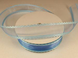 Лента декоративная, ширина 25 мм(313064), цвет: №1 синий (бобина 20+-0,3 ярдов)