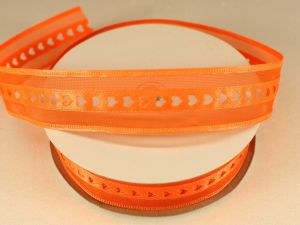 Лента декоративная, ширина 25 мм(313004), цвет: №8 оранжевый (бобина 20+-0,3 ярдов)