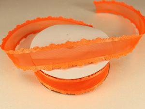 Лента декоративная, ширина 25 мм(313008), цвет: №7 оранжевый (бобина 20+-0,3 ярдов)