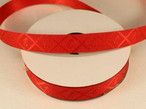 Лента декоративная, ширина 15 мм(213013), цвет: №4 красный (бобина 20+-0,3 ярдов)