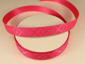 Лента декоративная, ширина 15 мм(213013), цвет: №6 ярко-розовый (бобина 20+-0,3 ярдов)