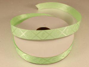 Лента декоративная, ширина 15 мм(213013), цвет: №7 зеленый (бобина 20+-0,3 ярдов)