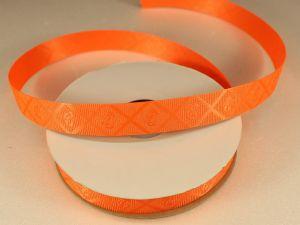 Лента декоративная, ширина 15 мм(213013), цвет: №8 оранжевый (бобина 20+-0,3 ярдов)