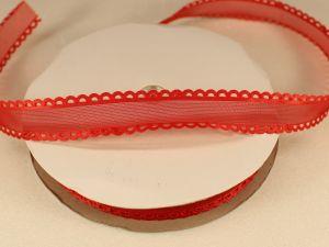 Лента декоративная, ширина 15 мм(213002), цвет: №3 красный (бобина 20+-0,3 ярдов)