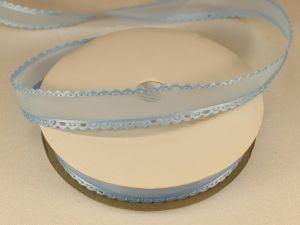 Лента декоративная, ширина 15 мм(213002), цвет: №5 голубой (бобина 20+-0,3 ярдов)