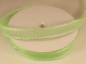 Лента декоративная, ширина 15 мм(213002), цвет: №6 зеленый (бобина 20+-0,3 ярдов)