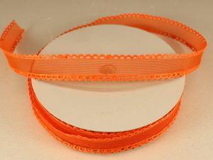 Лента декоративная, ширина 15 мм(213002), цвет: №8 оранжевый (бобина 20+-0,3 ярдов)