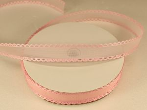 Лента декоративная, ширина 15 мм(213002), цвет: №9 светло-розовый (бобина 20+-0,3 ярдов)