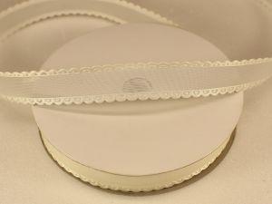 Лента декоративная, ширина 15 мм(213002), цвет: №11 кремовый (бобина 20+-0,3 ярдов)