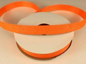 Лента декоративная, ширина 15 мм(213010), цвет: №4 оранжевый (бобина 20+-0,3 ярдов)