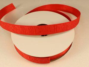 Лента декоративная, ширина 15 мм(213010), цвет: №5 красный (бобина 20+-0,3 ярдов)