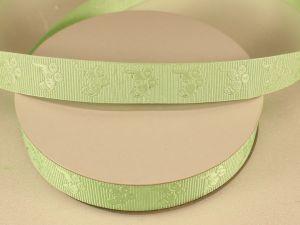 Лента декоративная, ширина 15 мм(213010), цвет: №8 зеленый (бобина 20+-0,3 ярдов)