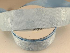 Лента декоративная, ширина 35 мм(413045), цвет: №1 голубой (бобина 20+-0,3 ярдов)