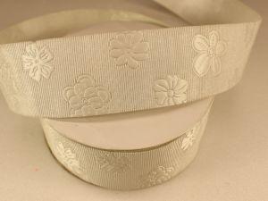 Лента декоративная, ширина 35 мм(413045), цвет: №4 кремовый (бобина 20+-0,3 ярдов)
