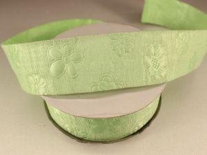 Лента декоративная, ширина 35 мм(413045), цвет: №7 зеленый (бобина 20+-0,3 ярдов)
