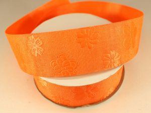 Лента декоративная, ширина 35 мм(413045), цвет: №8 оранжевый (бобина 20+-0,3 ярдов)