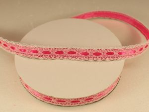 Лента декоративная, ширина 15 мм(213130), цвет: №3 ярко-розовый (бобина 20+-0,3 ярдов)