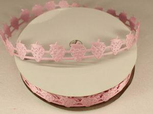 Лента декоративная, ширина 18 мм(000001), цвет: №4 розовый (бобина 20+-0,3 ярдов)