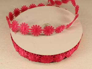 Лента декоративная, ширина 18 мм(213069), цвет: №2 ярко-розовый (бобина 20+-0,3 ярдов)