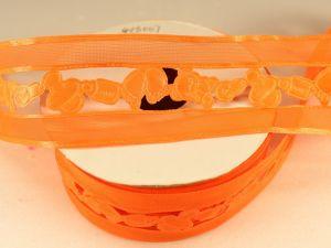Лента декоративная, ширина 38 мм(413007), цвет: №3 оранжевый (бобина 20+-0,3 ярдов)