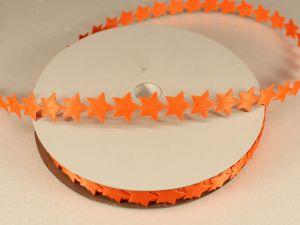 Лента декоративная, ширина 13 мм(213007), цвет: №2 оранжевый (бобина 20+-0,3 ярдов)