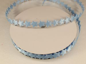 Лента декоративная, ширина 13 мм(213007), цвет: №4 голубой (бобина 20+-0,3 ярдов)