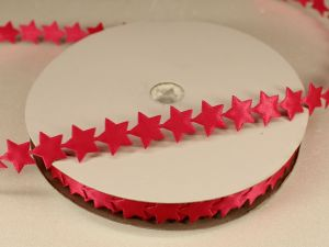 Лента декоративная, ширина 13 мм(213007), цвет: №11 ярко-розовый (бобина 20+-0,3 ярдов)