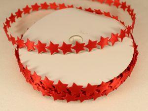Лента декоративная, ширина 13 мм(213007), цвет: №12 красный (бобина 20+-0,3 ярдов)