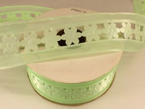 Лента декоративная, ширина 38 мм(413002), цвет: №2 зеленый (бобина 20+-0,3 ярдов)