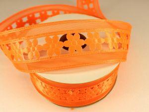 Лента декоративная, ширина 38 мм(413002), цвет: №4 оранжевый (бобина 20+-0,3 ярдов)