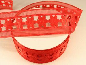 Лента декоративная, ширина 38 мм(413002), цвет: №5 красный (бобина 20+-0,3 ярдов)