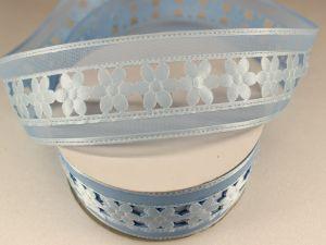 Лента декоративная, ширина 38 мм(413002), цвет: №6 голубой (бобина 20+-0,3 ярдов)