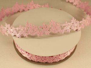 Лента декоративная, ширина 25 мм(313003), цвет: №7 светло-розовый (бобина 20+-0,3 ярдов)